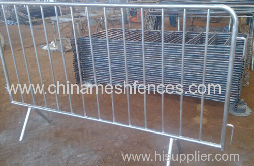 Heavy Galvanizing Pickets Pedestrian Control Barrier