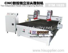 CNC Engraving Machine/CNC Router - Two Independent Heads Engraving Machine BTM1825