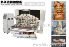 CNC Engraving Machine / CNC Router - Multi-heads Rotary Machine
