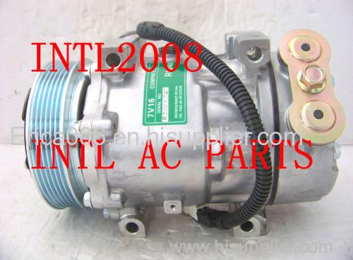 sanden 7v16 1237 1211f 1211 car air ac compressor citroen c5 c8 fiat rh erica006 en hisupplier com Sanden Compressor Clutch Parts Sanden Compressor Cross Reference