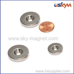 N45 magnet with countersink customized magnet