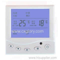 Central Air Conditioner Thermostat of Withlarge LCD