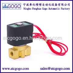 2/2 mini solenoid valve low pressure gas direct acting 230v 120v 1bar VITON
