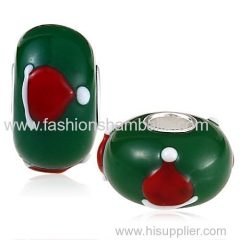 2014 Fashion Christmas hat Glass Beads in 925 Silver Core Wholesale