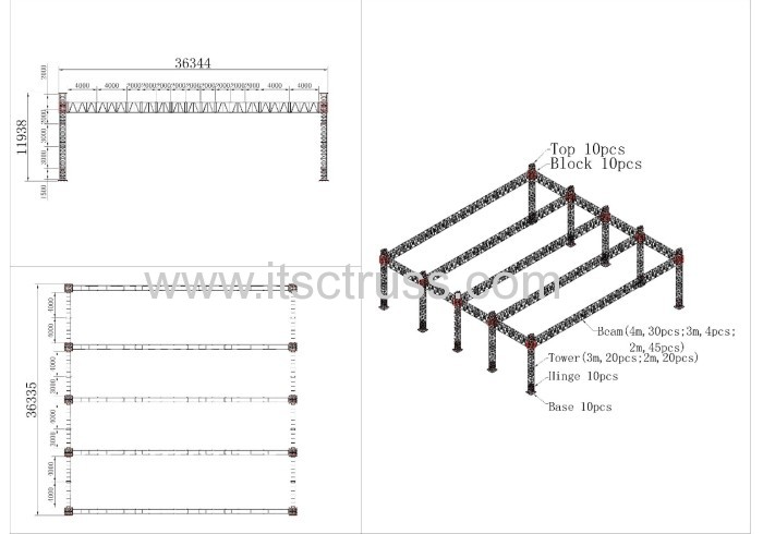 Heavy Duty Giant Flat Roof System 36x36x12m Manufacturers