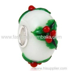 New Design Christmas tree Glass Beads in 925 Silver Core Wholesale