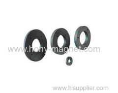 Economic black epoxy coating bonded ndfeb magnet ring
