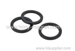 Black epoxy coating bonded ring small size magnet