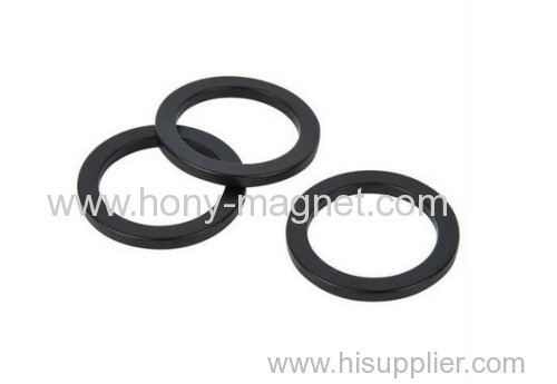 Black epoxy coating bonded ring small size magnet