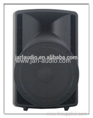 12 inch plastic stage speaker/professional active audio with USB/SD/BT/FM