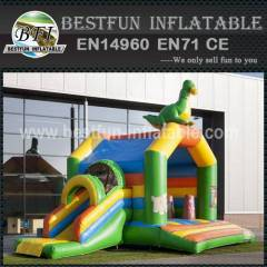 Dinosaur inflatable bouncy slide