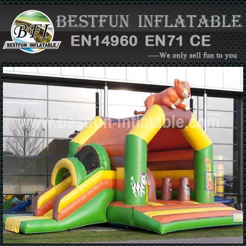 Combo inflatable bouncy slide