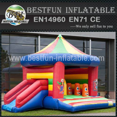 Colorful inflatable bouncy slide