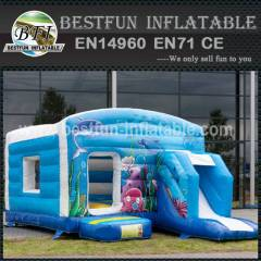 Inflatable bouncy slide commercial
