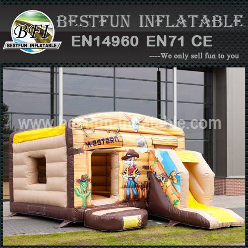 Jump inflatable bouncy slide