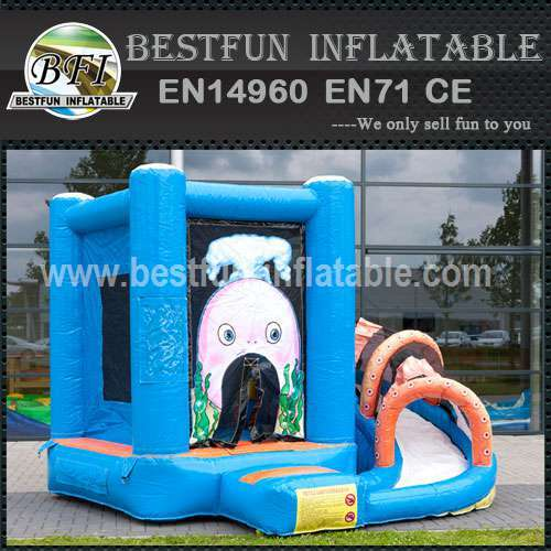 Kids inflatable bouncy slide