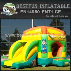 Indoor inflatable bouncy slide