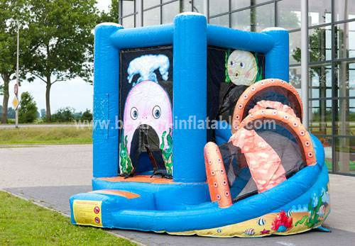Mini Multifun whale slide bouncer