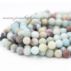 SPM0001 amazonite round beads