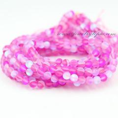 fuchia glass beads SPM0003