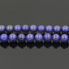 China Wholesale Natural Blue Lapis Lazuli Gemstone Beads Plain Round 4 6 8 10mm