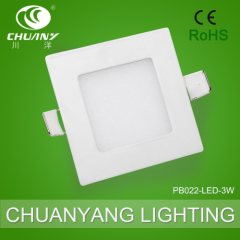 new design ultrathin square white LED lighting 3W