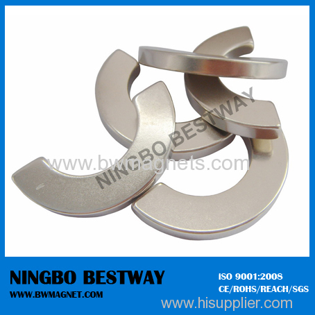 Neodymium Arc Magnets Rare Earth NdFeB Magent Color Zn coating