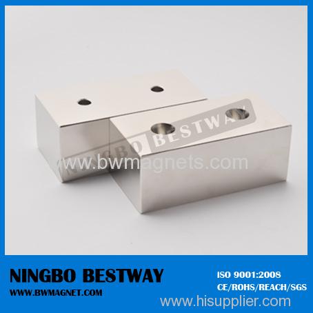 N35SH Phosphorization L23x6.95x2.3mm Neodymium Magnet Block