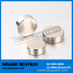 N35 D22*2mm Rare Earth Neodymium Disc Magnet Zn coating