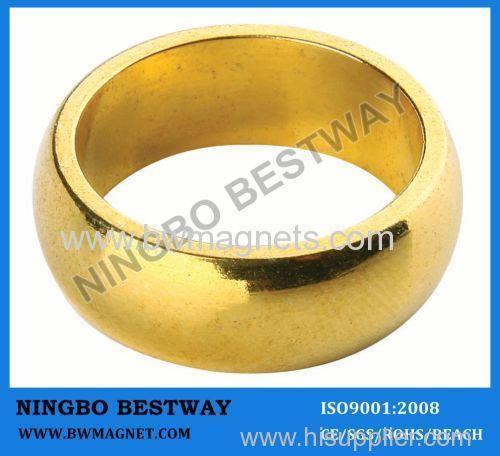 Neodymium Ring magnet with gold coating