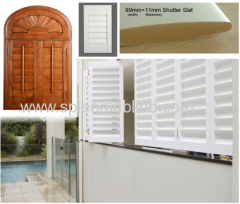 Solid wooden factory producing wooden shutters