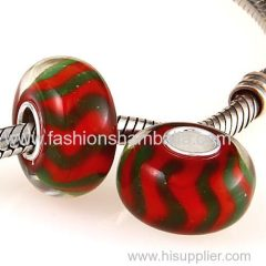 2014 Handmade Christmas Glass Beads in 925 Silver Core Wholesale