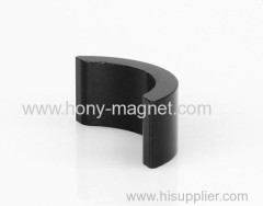 Arc shape bonded neodymium surplus magnets