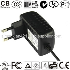 ac dc power adapter 12V wall switch 18-36w EU US UK wall plug in