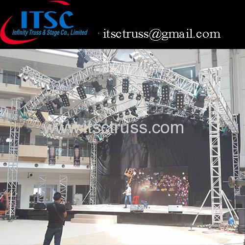 Stage lighting roof 9x6x6m Halfmoon roof