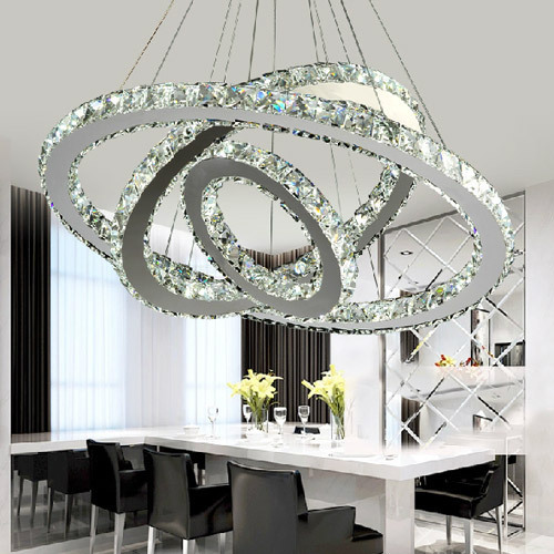 Luxurious Creative Round Living Room Crystal Lights For Sale Part 50
