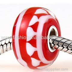 Fashion Merry Christmas Glass Beads in 925 Silver Core with European Style