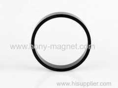 Black epoxy coating big ring neodymium raw earth magnets