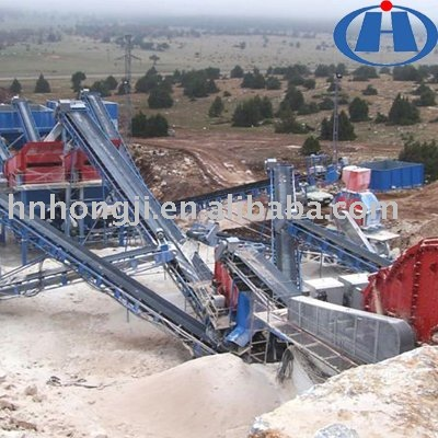 High frequency artificial sand making plant