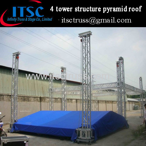 Lighting roof truss system 10x8x6m manufacturer supplier for Truss roof system