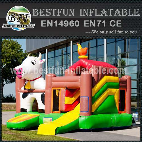 Space inflatable bouncy slide