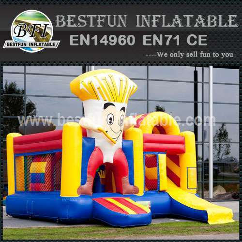 Residential inflatable bouncy slide