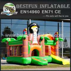 Pirate inflatable bouncy slide