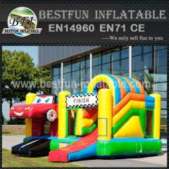 Special jump inflatable bouncy slide