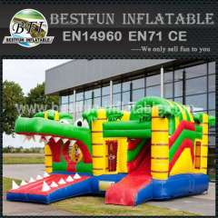Obstacle inflatable bouncy slide