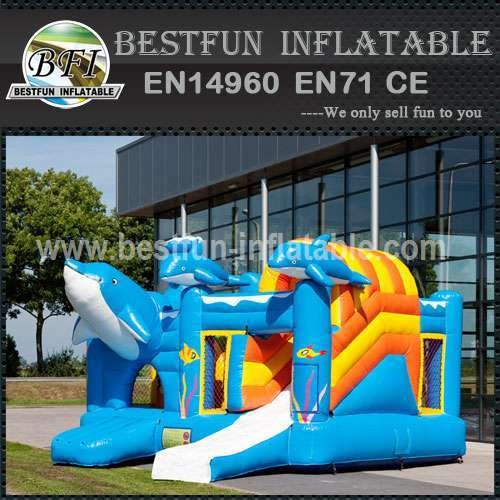 Quality giant inflatable bouncy slide