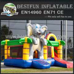 Elephant inflatable bouncy slide