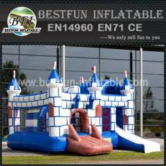 Outdoor inflatable bouncy slide