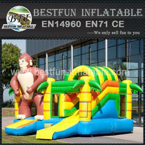 Simple inflatable bouncy slide