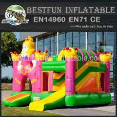 Princess inflatable bouncy slide